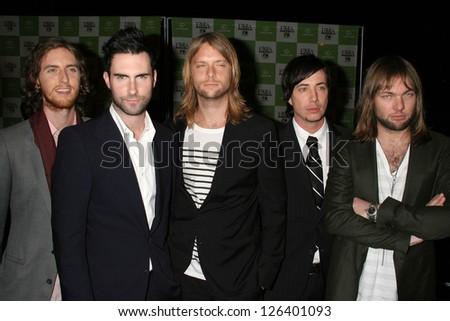 LOS ANGELES - NOVEMBER 08: Maroon 5 at the 16th Annual Environmental Media Association Awards at Wilshire Ebell Theatre November 08, 2006 in Los Angeles - stock photo