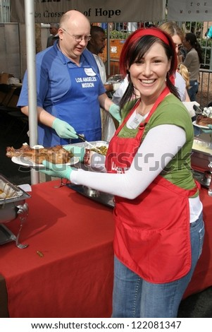 LOS ANGELES - NOVEMBER 22: Tiffany at The Los Angeles Mission Thanksgiving Meal for the Homeless  November 22, 2006 in Los Angeles Mission, Los Angeles, CA. - stock photo