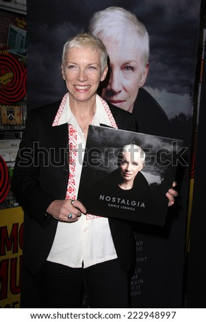 Los angeles oct 10 annie lennox at the in store appearance to sign