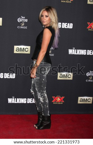 "LOS ANGELES - OCT 2:  Ashley Tisdale at the ""The Walking Dead"" Season 5 Premiere at Universal City Walk on October 2, 2014 in Los Angeles, CA - stock photo"