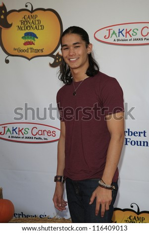 LOS ANGELES - OCT 21: Boo Boo Stewart at the Camp Ronald McDonald for Good Times 20th Annual Halloween Carnival at the Universal Studios Backlot on October 21, 2012 in Los Angeles, California - stock photo