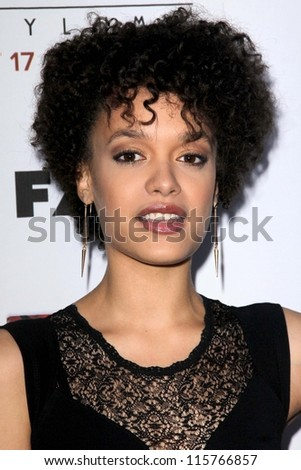 "LOS ANGELES - OCT 13:  Britne Oldford arrives at the ""American Horror Story: Asylum"" Premiere Screening at Paramount Theater on October 13, 2012 in Los Angeles, CA - stock photo"