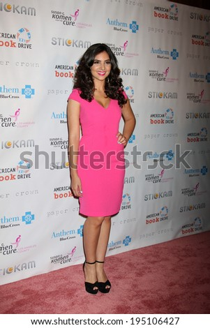 LOS ANGELES - OCT 13:  Camila Banus arrives at the Susan G. Komen 'Designs for the Cure' Gala at Millennium Biltmore Hotel on October 13, 2012 in Los Angeles, CA - stock photo