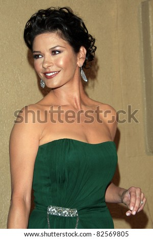 """LOS ANGELES - OCT 20: Catherine Zeta Jones at the third annual """"A Fine Romance""""  at Sony Studios in Culver City, Los Angeles, California on October 20, 2007 - stock photo"""