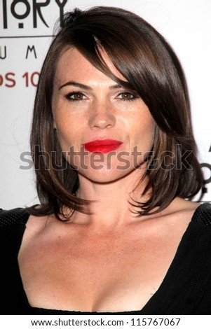 "LOS ANGELES - OCT 13:  Clea DuVall arrives at the ""American Horror Story: Asylum"" Premiere Screening at Paramount Theater on October 13, 2012 in Los Angeles, CA - stock photo"