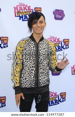 LOS ANGELES - OCT 6: Cole Plante at the 'Make Your Mark: Shake It Up Dance Off 2012' at LA Center Studios on October 6, 2012 in Los Angeles, California - stock photo