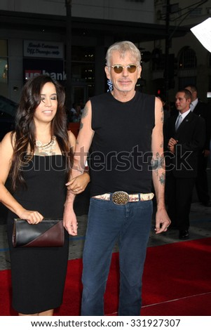"LOS ANGELES - OCT 26:  Connie Angland, Billy Bob Thornton at the ""Our Brand is Crisis"" LA Premiere at the TCL Chinese Theater on October 26, 2015 in Los Angeles, CA - stock photo"