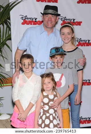 """LOS ANGELES - OCT 18:  David Koechner arrives to the """"Jake and the Never Land Pirates: Battle for the Book"""" Los Angeles Premiere on October 18, 2014 in Burbank, CA                 - stock photo"""