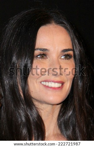 LOS ANGELES - OCT 8:  Demi Moore at the 5th Annual PSLA Autumn Party at 3LABS on October 8, 2014 in Culver City, CA - stock photo