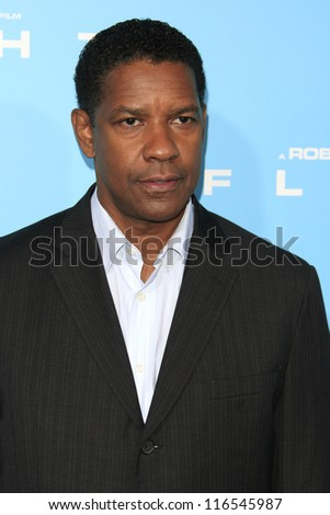 LOS ANGELES - OCT 23: Denzel Washington at the Premiere of Paramount Pictures' 'Flight' at ArcLight Cinemas on October 23, 2012 in Los Angeles, California - stock photo
