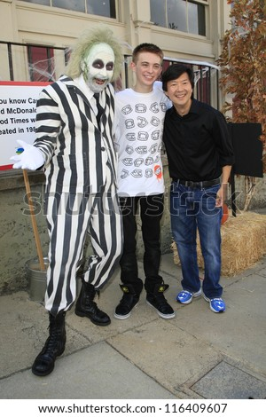 LOS ANGELES - OCT 21: Dylan Riley Snyder, Ken Jeong at the Camp Ronald McDonald for Good Times 20th Annual Halloween Carnival at Universal Studios on October 21, 2012 in Los Angeles, California - stock photo