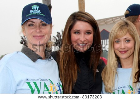 "LOS ANGELES - OCT 16:  Eileen Davidson, Bristol Palin, Marcy Rylan, Kate Linder at the Habitat for Humanity's ""American Dream Walk""  at Pacoima Plaza on October 16, 2010 in Pacoima, CA - stock photo"