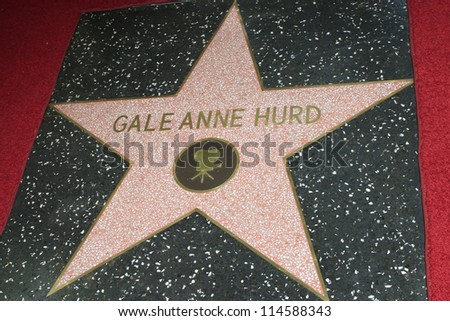 LOS ANGELES - OCT 3: Gale Anne Hurd star at a ceremony as Gale Anne Hurd is honored with a star on the Hollywood Walk of Fame on October 3, 2012 in Los Angeles, California - stock photo