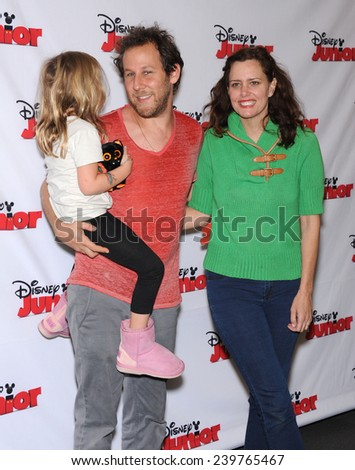 """LOS ANGELES - OCT 18:  Ione Skye, Ben Lee & Goldie Lee arrives to the """"Jake and the Never Land Pirates: Battle for the Book"""" Los Angeles Premiere on October 18, 2014 in Burbank, CA                 - stock photo"""
