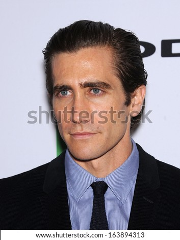 LOS ANGELES - OCT 21:  Jake Gyllenhaal arrives to Hollywood Film Awards Gala 2013  on October 21, 2013 in Beverly Hills, CA                 - stock photo