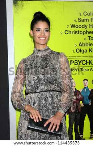 "LOS ANGELES - OCT 30:  Jessica Clark  at the ""Seven Psychopaths"" Premiere at Bruin Theater on October 30, 2012 in Westwood, CA - stock photo"