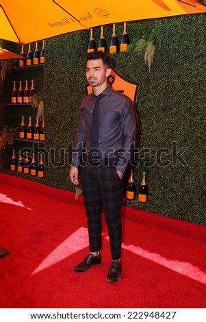 LOS ANGELES - OCT 11:  Joe Jonas at the Fifth-Annual Veuve Clicquot Polo Classic at Will Rogers State Historic Park on October 11, 2014 in Pacific Palisades, CA - stock photo