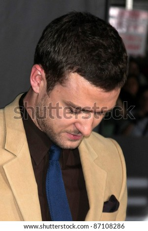 """LOS ANGELES - OCT 20:  Justin Timberlake arriving at the """"In Time"""" Los Angeles Premiere at the Los Angeles on October 20, 2011 in Westwood, CA - stock photo"""