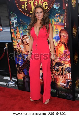 "LOS ANGELES - OCT 12:  Kate del Castillo arrives to the ""The Book of Life"" Los Angeles Premiere on October 12, 2014 in Los Angeles, CA                 - stock photo"