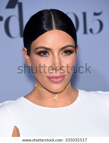 LOS ANGELES - OCT 26:  Kim Kardashian arrives to the InStyle Awards 2015  on October 26, 2015 in Hollywood, CA.                 - stock photo