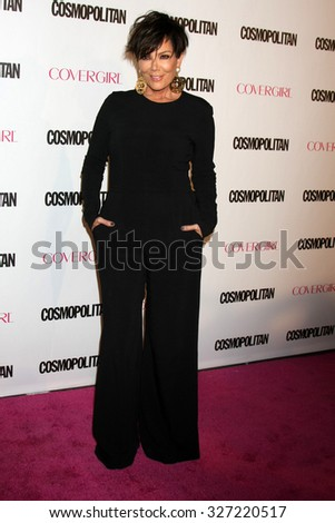 LOS ANGELES - OCT 12:  Kris Jenner at the Cosmopolitan Magazine's 50th Anniversary Party at the Ysabel on October 12, 2015 in Los Angeles, CA - stock photo