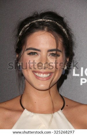 """LOS ANGELES - OCT 7:  Lorenza Izzo at the """"Knock Knock"""" Los Angeles Premiere at the TCL Chinese 6 Theaters on October 7, 2015 in Los Angeles, CA - stock photo"""