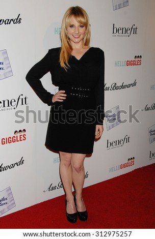 LOS ANGELES - OCT 30:  Melissa Rauch arrives at the Ass Backwards Los Angeles Premiere  on October 30, 2013 in Los Angeles, CA                 - stock photo