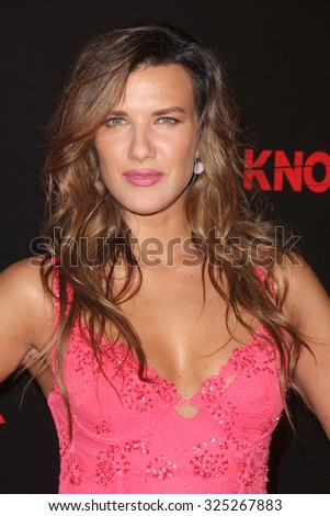 """LOS ANGELES - OCT 7:  Natalie Burn at the """"Knock Knock"""" Los Angeles Premiere at the TCL Chinese 6 Theaters on October 7, 2015 in Los Angeles, CA - stock photo"""