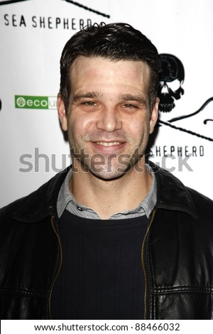 LOS ANGELES - OCT 23: Nathaniel Marston at the Animal Planet's 'Whale Wars' + Sea Shepherd Conservation Society event for 'Operation No Compromise' on October 23, 2010 in Los Angeles, California - stock photo