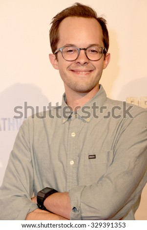 """LOS ANGELES- OCT 17: Neil Grayston arrives at the """"Death Valley"""" film premiere Oct. 17, 2015 at Raleigh Studios in Los Angeles, CA. - stock photo"""
