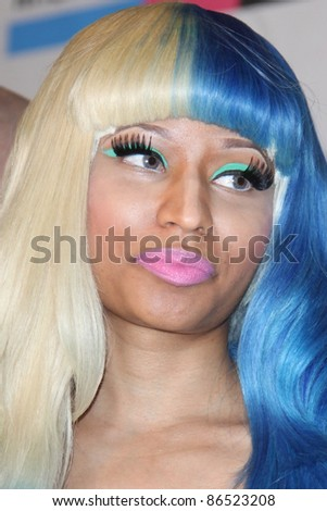LOS ANGELES - OCT 11:  Nicki Minaj arriving at the 2011 American Music Awards Nominations Press Conference  at the JW Marriott Los Angeles at L.A. LIVE on October 11, 2011 in Los Angeles, CA - stock photo