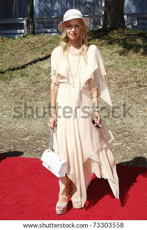 LOS ANGELES - OCT 10:  Rachel Zoe arriving at the Veuve Cliquot Polo Classic Los Angeles at Will Rogers Park, Los Angeles, California on October 10,  2010. - stock photo