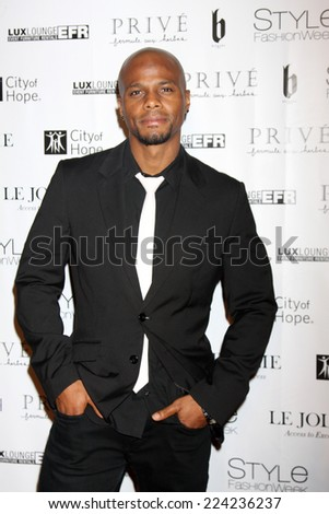 "LOS ANGELES - OCT 15:  Richard John Reliford at the Sue Wong ""Fairies and Sirens"" Fashion Show at The REEF on October 15, 2014 in Los Angeles, CA - stock photo"