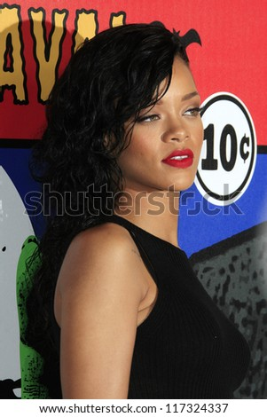 LOS ANGELES - OCT 31: Rihanna is named the Queen of the 2012 West Hollywood Halloween Carneval at Greystone Manor Supperclub on October 31, 2012 in West Hollywood, California - stock photo