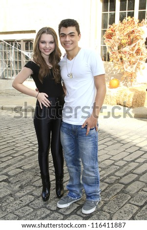 LOS ANGELES - OCT 21: Sammi Hanratty, Adam Irigoyen at the Camp Ronald McDonald for Good Times 20th Annual Halloween Carnival at Universal Studios Backlot on October 21, 2012 in Los Angeles,California - stock photo