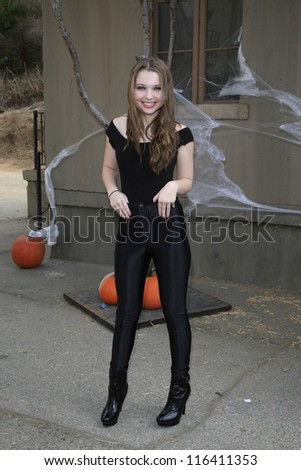 LOS ANGELES - OCT 21: Sammi Hanratty at the Camp Ronald McDonald for Good Times 20th Annual Halloween Carnival at the Universal Studios Backlot on October 21, 2012 in Los Angeles, California - stock photo