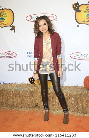 LOS ANGELES - OCT 21: Savannah Jayde at the Camp Ronald McDonald for Good Times 20th Annual Halloween Carnival at the Universal Studios Backlot on October 21, 2012 in Los Angeles, California - stock photo