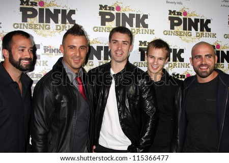 "LOS ANGELES - OCT 11:  Secret State arrives at the ""Mr. Pink"" Energy Drink Launch at Beverly Wilshire Hotel on October 11, 2012 in Beverly Hills, CA - stock photo"