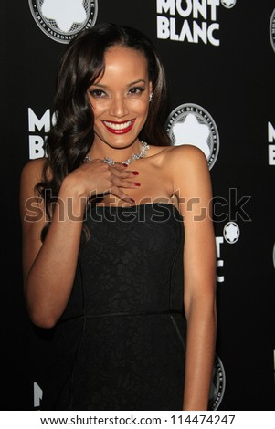 LOS ANGELES - OCT 2: Selita Ebanks at the Montblanc 2012 Montblanc De La Culture Arts Gala honoring Quincy Jones at Chateau Marmont on October 2, 2012 in Los Angeles, California - stock photo