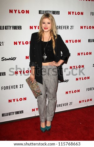 LOS ANGELES - OCT 15:  Taylor Spreitler arrives at  Nylon's October IT Issue party at London West Hollywood on October 15, 2012 in Los Angeles, CA - stock photo