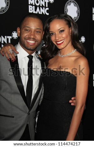 LOS ANGELES - OCT 2: Terrence Jenkins, Selita Ebanks at the Montblanc 2012 Montblanc De La Culture Arts Gala honoring Quincy Jones at Chateau Marmont on October 2, 2012 in Los Angeles, California - stock photo