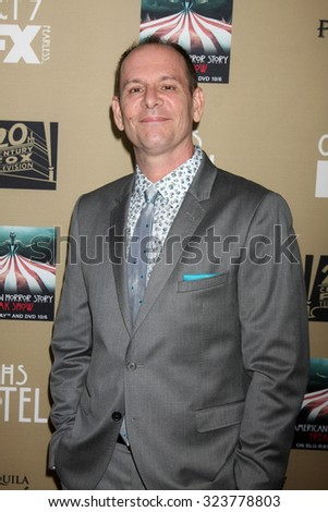 "LOS ANGELES - OCT 3:  Tim Minear at the ""American Horror Story: Hotel"" Premiere Screening at the Regal 14 Theaters on October 3, 2015 in Los Angeles, CA - stock photo"