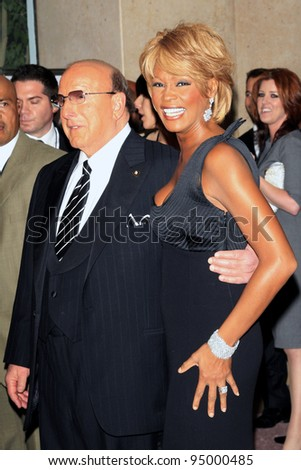 LOS ANGELES - OCT 28:  Whitney Houston, Clive Davis at the 17th Carousel of Hope Ball at the Beverly Hilton Hotel, Beverly Hills, California on October 28, 2006 - stock photo