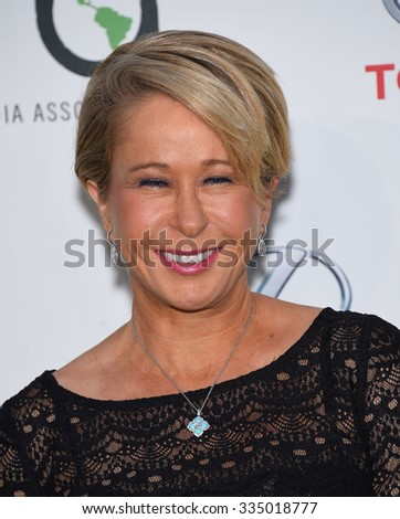 LOS ANGELES - OCT 24:  Yeardley Smith arrives to the 25th Annual Environmental Media Awards on October 24, 2015 in Hollywood, CA.                 - stock photo