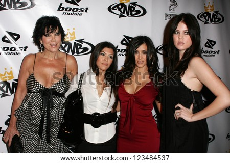 LOS ANGELES - OCTOBER 10: Kim Kardashian and family at the birthday party for Nick Cannon and the opening of his flagship store for PNB Nation on October 10, 2006 at PNB Nation Store, Los Angeles, CA. - stock photo