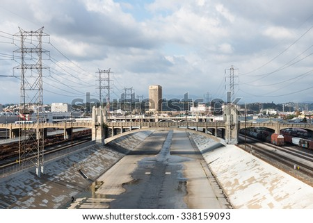 Los Angeles River. - stock photo