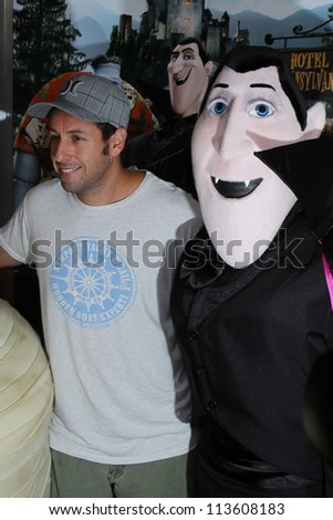 LOS ANGELES - SEP 22:  Adam Sandler, Frankenstein Character at the screening of Columbia Pictures and Sony Pictures Animation's 'Hotel Transylvania' on September 22, 2012 in Los Angeles, CA - stock photo
