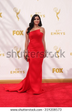 LOS ANGELES - SEP 20:  Ariel Winter at the Primetime Emmy Awards Arrivals at the Microsoft Theater on September 20, 2015 in Los Angeles, CA - stock photo
