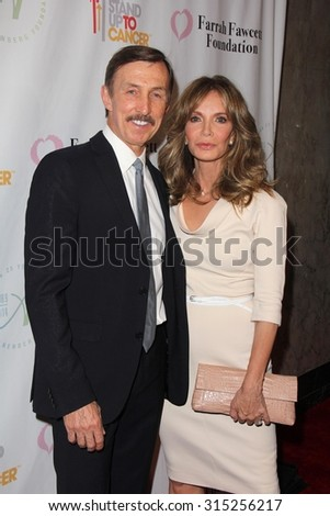 LOS ANGELES - SEP 9:  Brad Allen, Jaclyn Smith at the Farrah Fawcett Foundation 1st Tex-Mex Fiesta at the Wallis Annenberg Center for the Performing Arts on September 9, 2015 in Beverly Hills, CA - stock photo