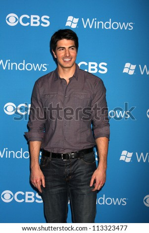 LOS ANGELES - SEP 15:  Brandon Routh arrives at the CBS 2012 Fall Premiere Party  at Greystone Manor on September 15, 2012 in Los Angeles, CA - stock photo